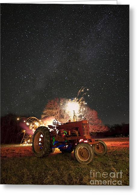 The Little Red Tractor That Could Greeting Card by Keith Kapple