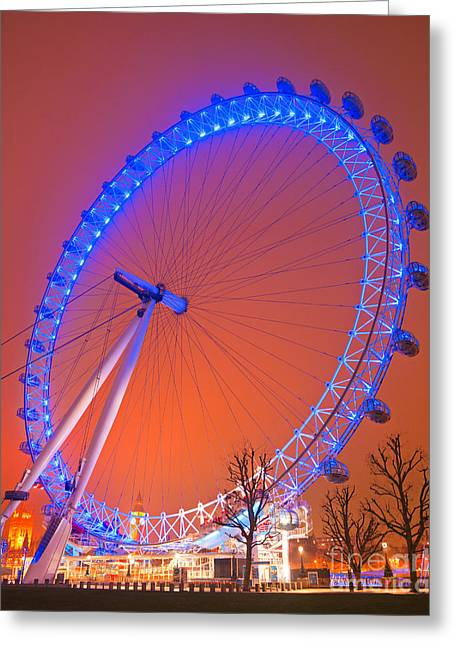 Greeting Card featuring the photograph The London Eye by Luciano Mortula