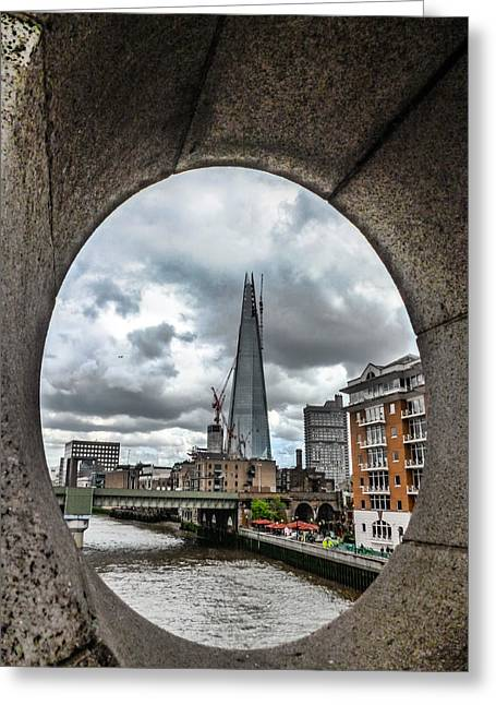 The London Shard Greeting Card by Dawn OConnor
