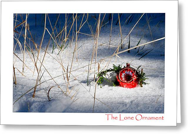 The Lone Ornament - 1st Edition Greeting Card by Peter Tellone