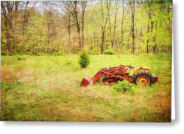 The Lone Tractor Greeting Card by Paul Ward