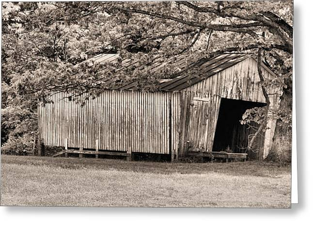 The Long Barn Greeting Card by JC Findley