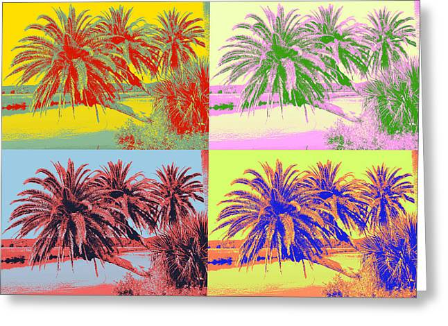 Greeting Card featuring the photograph The Loop In Pop Art by Alice Gipson