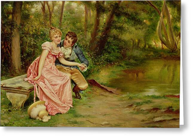 The Lovers Greeting Card by Joseph Frederick Charles Soulacroix