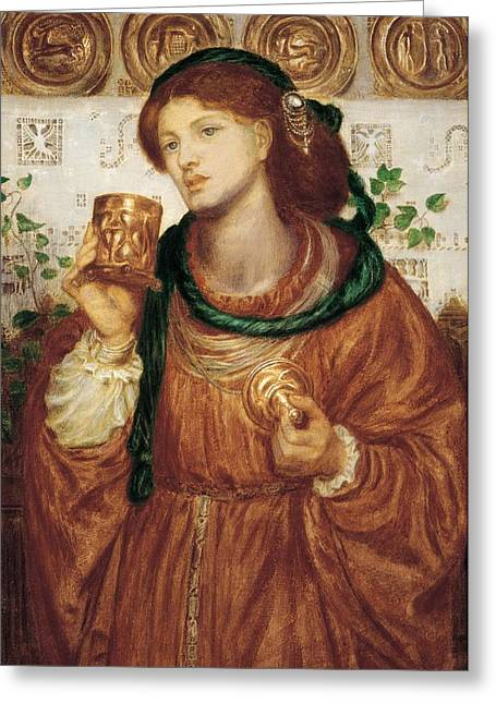 The Loving Cup Greeting Card by Dante Charles Gabriel Rossetti