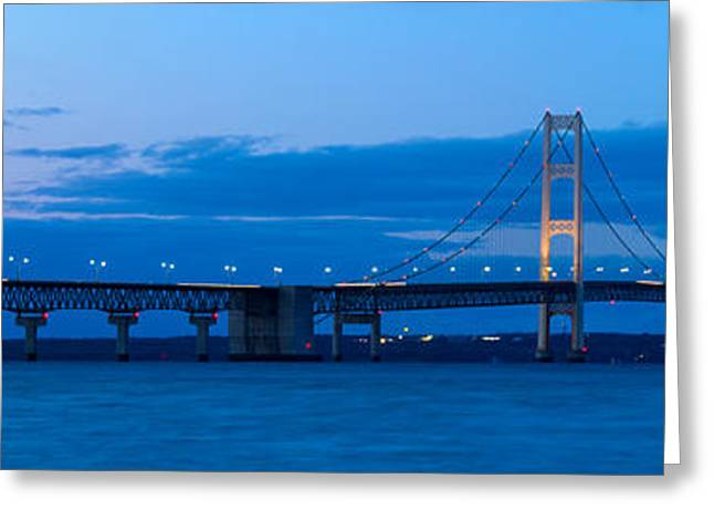 The Mackinac Bridge Greeting Card by Twenty Two North Photography