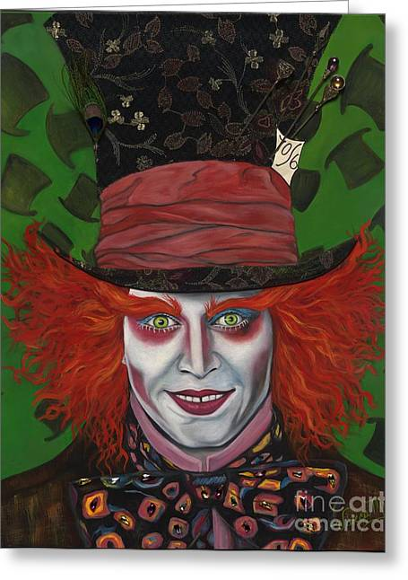 The Mad Hatter Greeting Card by Viveca Mays