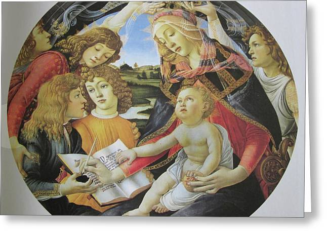 The Madonna Of The Magnificent Greeting Card by Carl Purcell