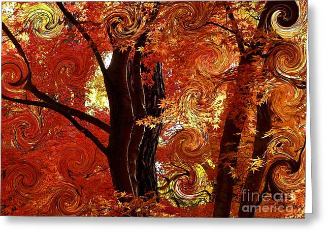 The Magic Of Autumn - Digital Abstract Greeting Card