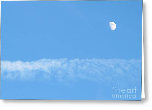The Magic Of The Moon Greeting Card by Valia Bradshaw