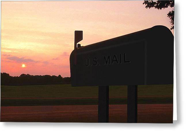 The Mail Of Old Greeting Card by Mike McGlothlen