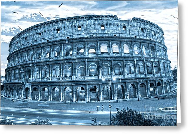 Greeting Card featuring the photograph The Majestic Coliseum by Luciano Mortula