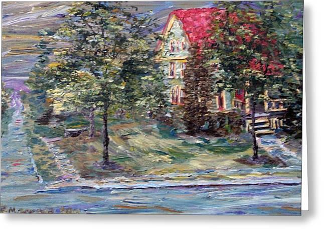 Greeting Card featuring the painting The Majestic Outing Club Lawn by Denny Morreale