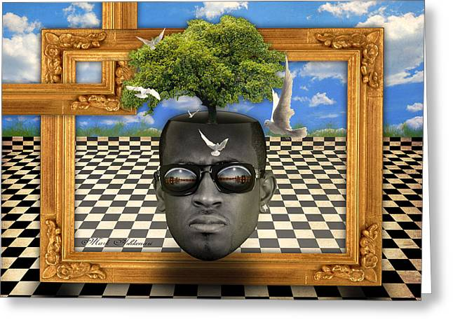 The Man And The Tree  Greeting Card by Mark Ashkenazi