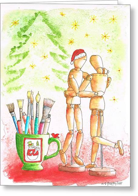 The-mannequin's-christmas Greeting Card
