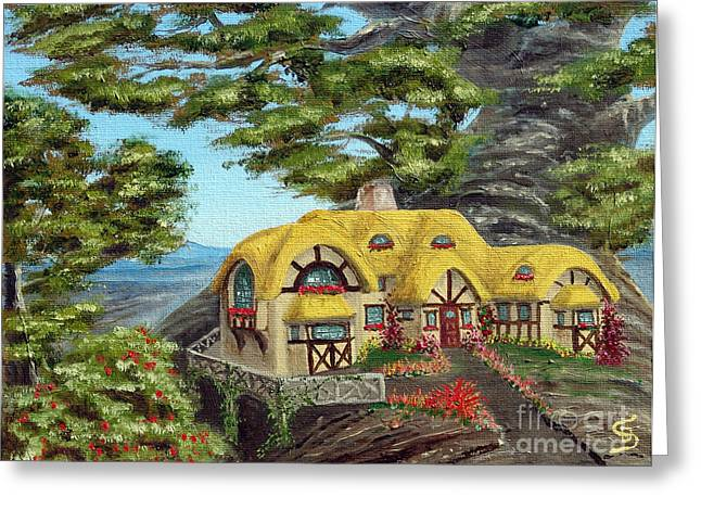The Manor Cottage From Arboregal Greeting Card