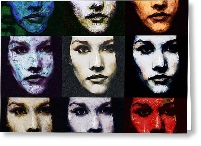 The Many Faces Of Eve Greeting Card by Gun Legler