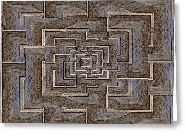 The Maze Within Greeting Card by Tim Allen