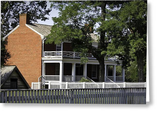 The Mclean House In Appomattox Virgina Greeting Card