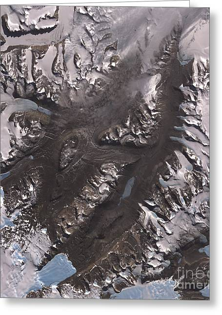 The Mcmurdo Dry Valleys West Of Mcmurdo Greeting Card by Stocktrek Images