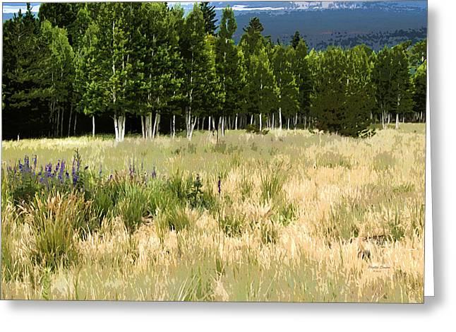 The Meadow Digital Art Greeting Card by Phyllis Denton