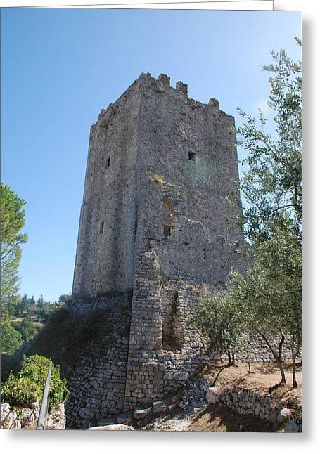 Greeting Card featuring the photograph The Medieval Tower by Dany Lison