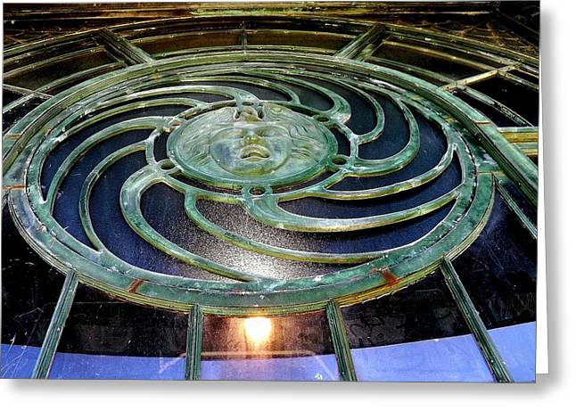 The Medusa Windows Greeting Card by William Walker