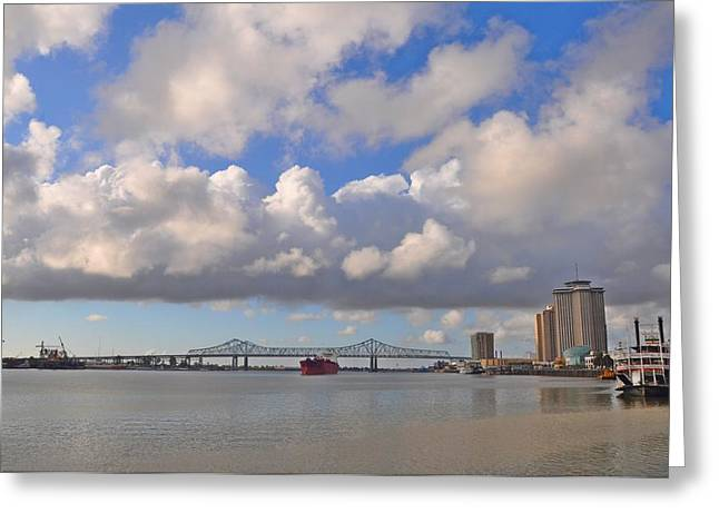 The Mighty Mississippi Greeting Card by Bill Cannon