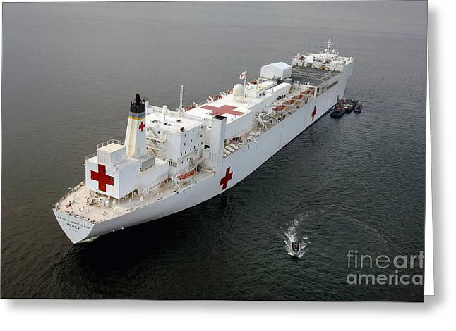 The Military Sealift Command Hospital Greeting Card