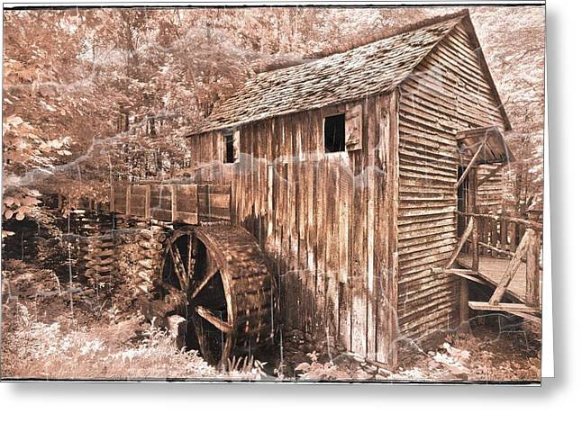 The Mill At Cade's Cove Greeting Card by Debra and Dave Vanderlaan