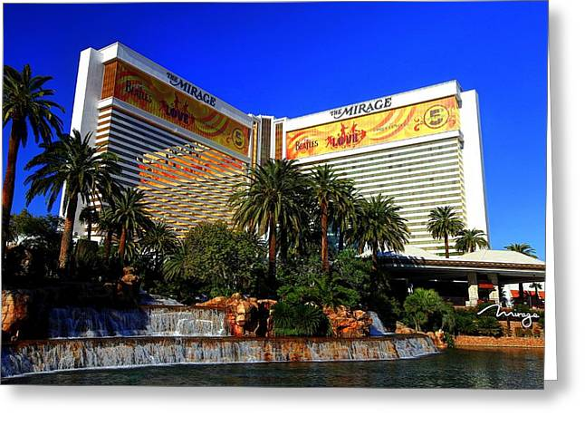Greeting Card featuring the photograph The Mirage by Linda Edgecomb
