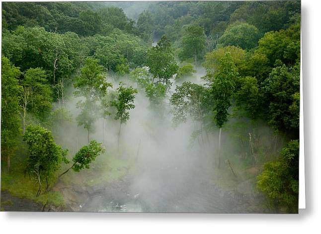 The Mist In The Valley Greeting Card