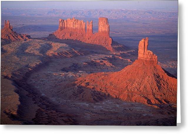 The Mittens And Monument Valley Greeting Card by Ira Block