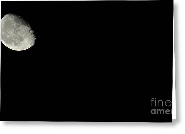 The Moon Greeting Card by Kodjo Somana