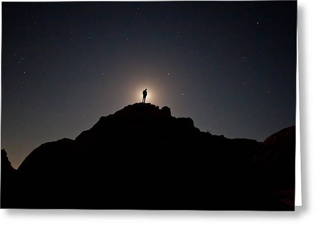 The Moon Man Greeting Card by Chris Allington