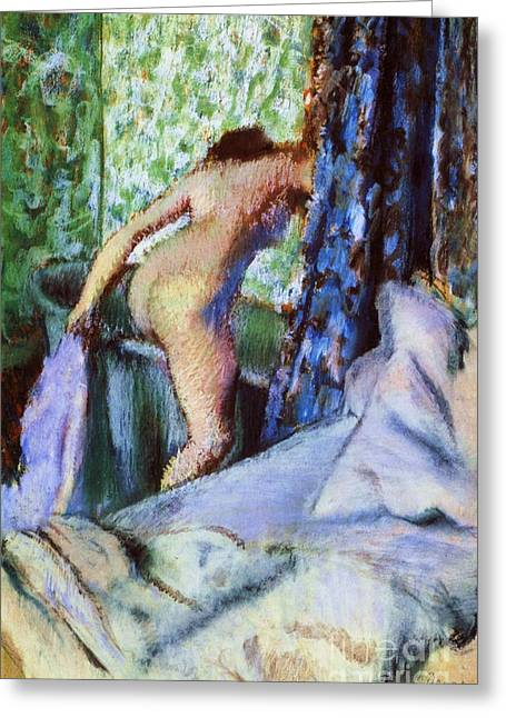 The Morning Bath Greeting Card by Pg Reproductions