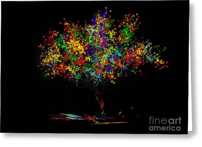 The Most Colorful Tree Of The World Greeting Card