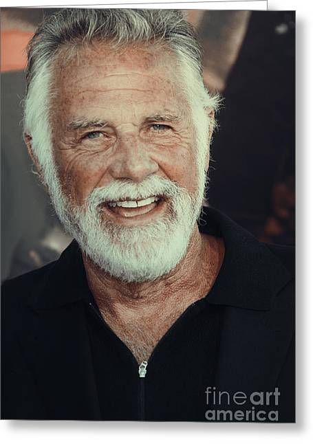 The Most Interesting Man In The World Greeting Card by Nina Prommer