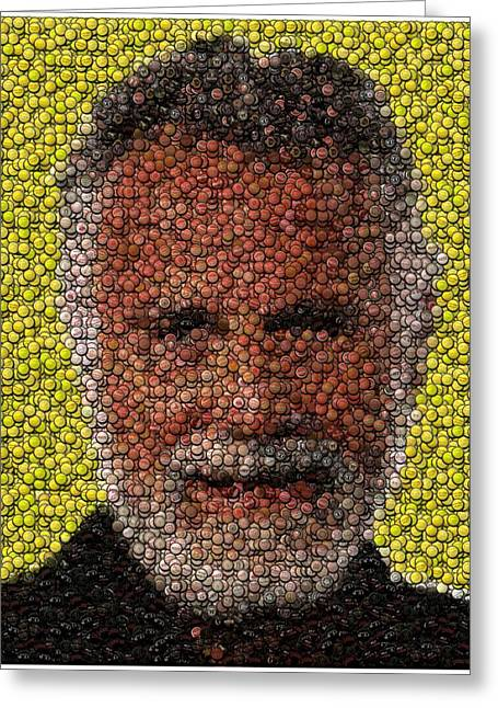 The Most Interesting Mosaic In The World Greeting Card by Paul Van Scott
