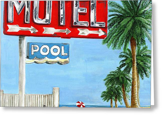 The Motel Sign Greeting Card