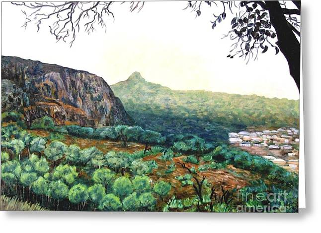 The Mountain Above Kabala Sierre Leone Greeting Card by Caroline Street