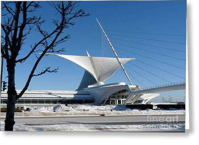 The Museum In Winter Greeting Card by David Bearden