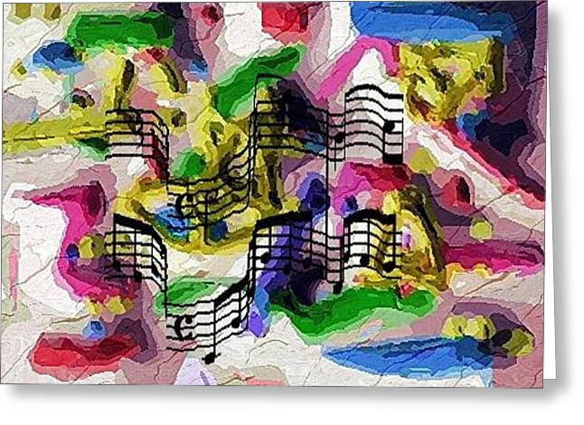 Greeting Card featuring the digital art The Music In Me by Alec Drake