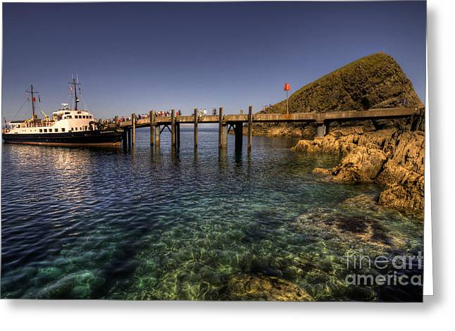 The Mv Oldenburg At Lundy Island Greeting Card by Rob Hawkins