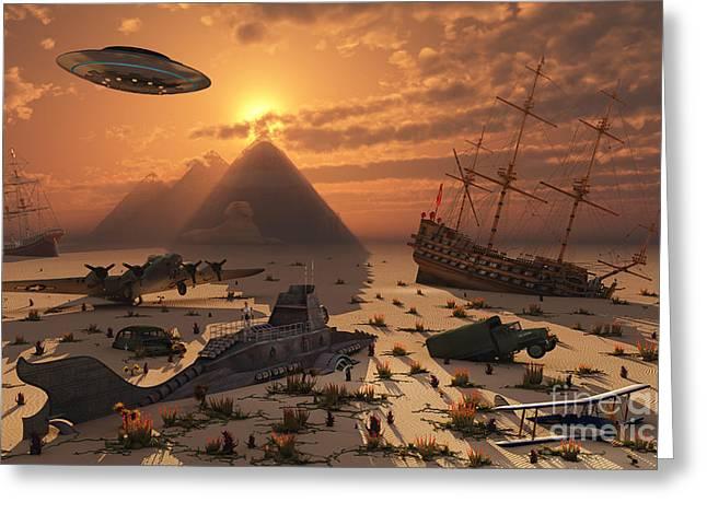 The Mysterious Bermuda Triangle Where Greeting Card by Mark Stevenson