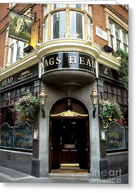 The Nags Head Pub Greeting Card by Anne Gordon