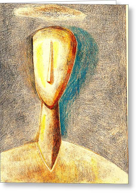 The Nameless And Faceless Greeting Card by Al Goldfarb