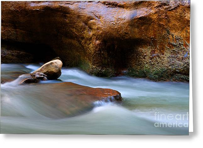 The Narrows Virgin River Zion 5 Greeting Card