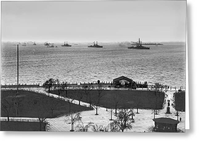 The Navy Fleet In New York Bay Greeting Card
