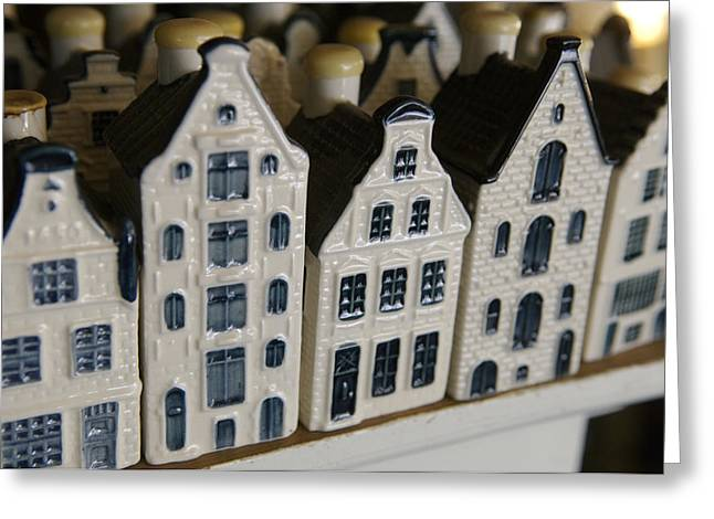 The Netherlands, Amsterdam, Model Houses Greeting Card by Keenpress
